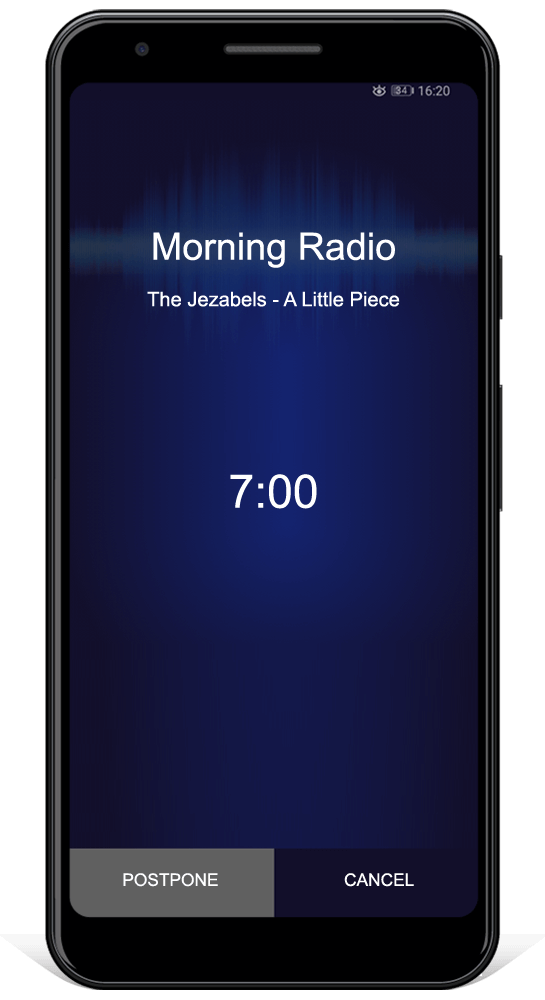 Online radio alarm for android
